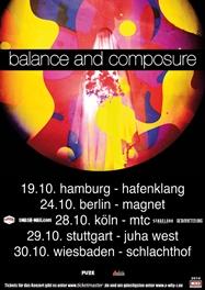 BALANCE AND COMPOSURE am 28.10.2014 im Kölner MTC