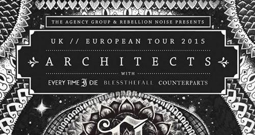 ARCHITECTS Tourdaten 2015