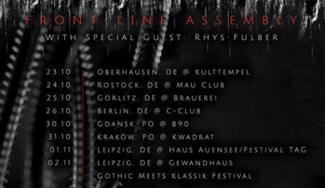 Front Line Assembly: Tourdaten