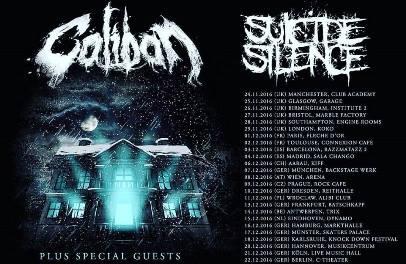 CALIBAN & SUICIDE SILENCE AUF EUROPA-TOUR