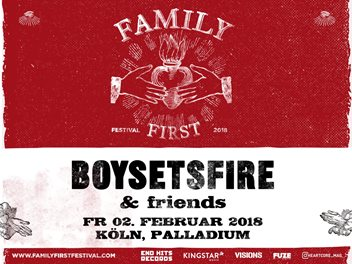 BOYSETSFIRE: Neuauflage ihres FAMILY FIRST FEST in Köln!